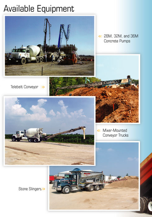 Quad-County Ready Mix Available Equipment